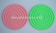 Eco friendly round heat proof silicone mat
