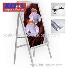 XD-J-S02 Aluminum alloy poster frames A frame folding stands flexible design for retails