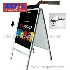 XD-J-D01 Aluminum lightweight snap frames double-side A frame folding poster stands firm in structure