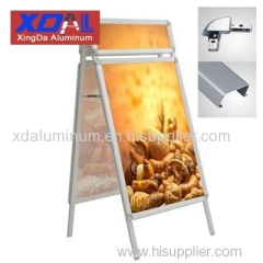 XD-J-H01 Aluminum portable lightweight outdoor poster stand double sides A frame folding with head for wholesales retail