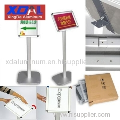 XD-J-L02 Aluminum silver black poster stands standing signs A3 poster changeable for sales promotion