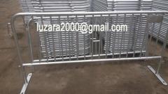 Fully Galvanized Pedestiran walkway barrier steel crowd control barrier
