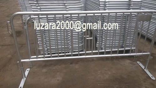 Fully Galvanized Pedestiran walkway barrier steel crowd control barrier