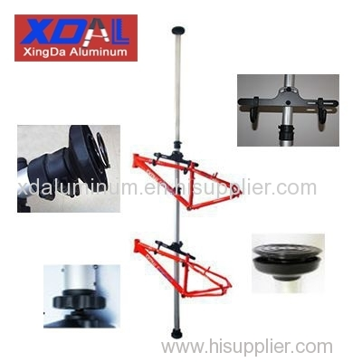 XD-J-B01 Aluminum alloy floor to celling MTB/BMX/DH bike bicycle cycling display stands