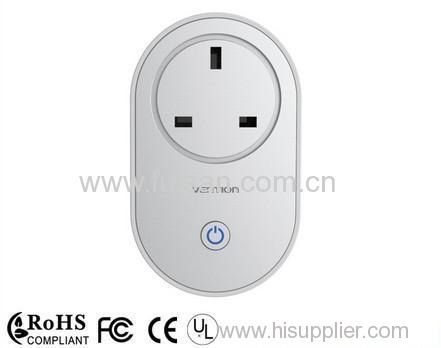 Wifi smart sockets / the wireless smart plug be controlled by phone APP / wifi smart socket for home and villa
