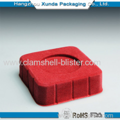 Cosmetic flocking blister packaging