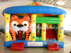 Tiger Bouncer With Slide and Obstacle