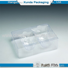 Cosmetic PVC/PET/PP/PS plastic clamshell packaging