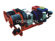 JJQS-30 on testing 3T gasoline powered dual wheel winch