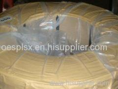 Rubber Tube Steel Wire Ropes for Ocean Smooth Coating 0.24g/kg Bronze Coated 2.0mm