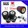 Fineray brand XJ type Dia36mm*16mm black Hot solid printing ink roller /solid dry ink roller / hot ink wheel