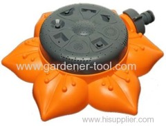 8-pattern Multi-Position Turret Lawn Sprinkler