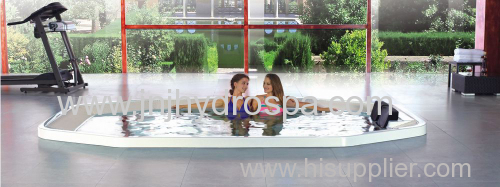 build-in hot tub for 14 persons;luxury spa