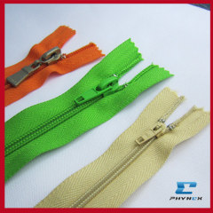 nylon key lock zippers
