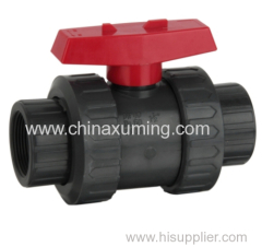 PVC/CPVC/PP True Union Ball Valve With Red Handle