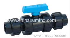 PP compression ball valves