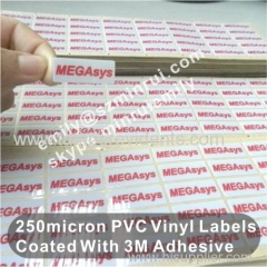 Custom Silkscreen Print Very Thick 250micron PVC Stickers With Glossy Finished,Silkscreen Print PVC Label With 3M Glue