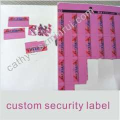 Destructible Safety Eggshell Sticker with Strong Adhesive
