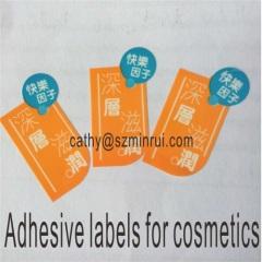 Adhesive cosmetic Labels Custom