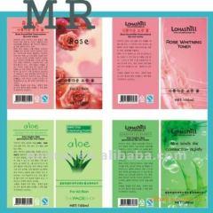 Custom self adhesive cosmetics vinyl labels