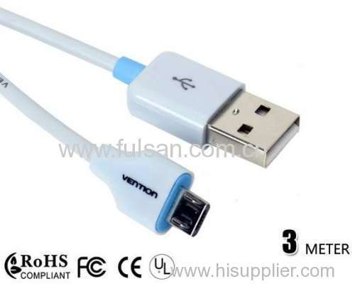 micro usb cable for samsung galaxy i9000/i9100/i9300/i9500/n7100