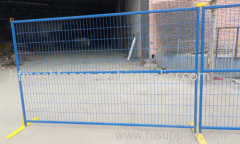 Temporary welded wire mesh fence panels
