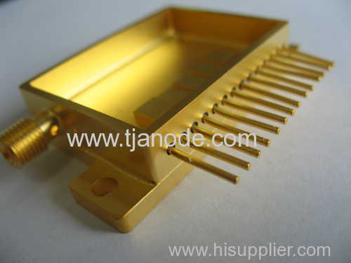 hybride package glass component gold plated
