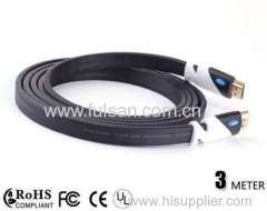 Gold Plated 3M HDMI Cable For PS4 With Ethernet