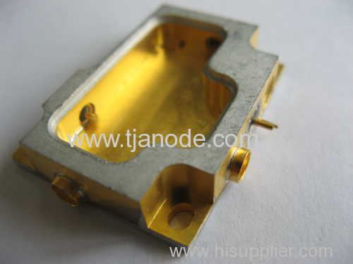 hybride package glass component goldplating