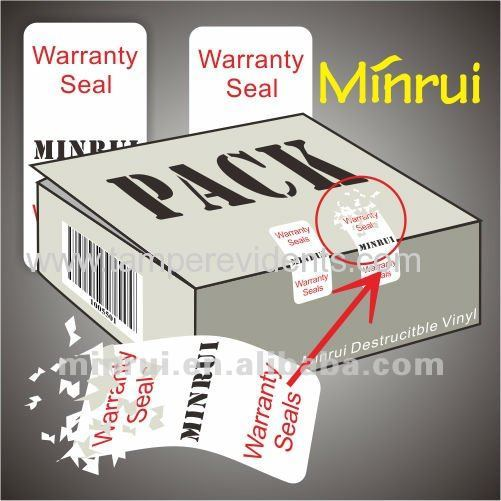 Security Seal Sticker Packaging Label From China