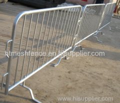 Heavy duty galvanized portable road safety barrier
