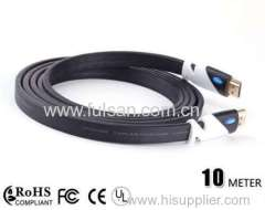 HDMI cable 1.4v 1080P flat with CE FCC ATC approval 28awg for home theatre 3D HDTV and other hdmi devices