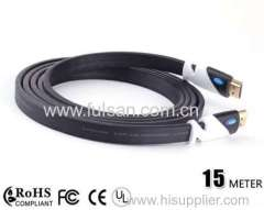 15m hdmi flat cable 1 4v up to 1080p with ethernet support 3D