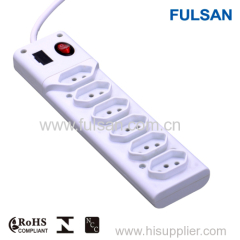 Power strip multiple socket