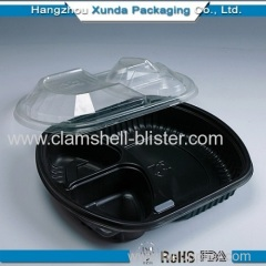 Divider plastic container with separate lid