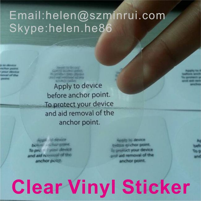 Micron Thick Self Adhesive Waterproof Clear Vinyl Sticker - Clear vinyl stickers