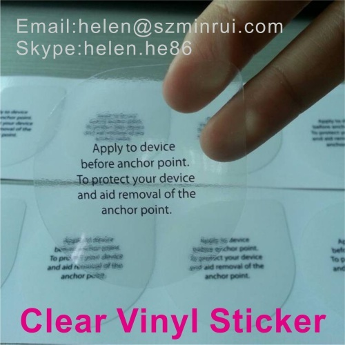 Micron Thick Self Adhesive Waterproof Clear Vinyl Sticker - Custom clear vinyl stickers