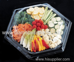 Big Hexagonal Plastic Fruits Or Food Packaging Box With Cover