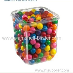 Rectangular Plastic Packaging Box Or Jar For Candy