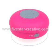 Mini HIFI Waterproof Wireless Bluetooth 3.0 Shower Handsfree MIC Suction Speaker Pink