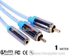Hot Selling 3.5mm Male to 2RCA Female Stereo Audio Cable Adapter