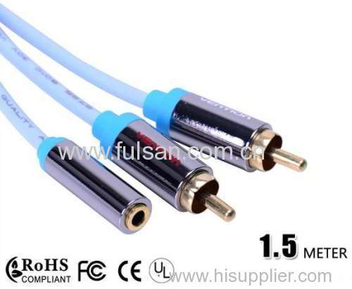 3.5mm stereo to 2rca cable Audio Cable