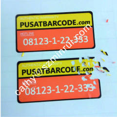 High quality Tamper evident Security sticker label