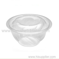 Hot sales plastic salad container with lid