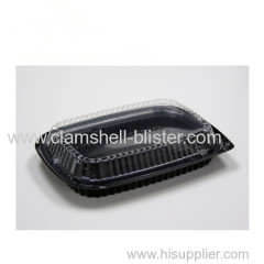 Disposable plastic vegetable or salad packaging boxs with cover