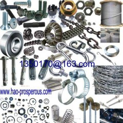 General Spare parts screw bolt iron wire rope net nails shackle hose clamp spring chain bearing