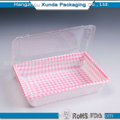 Plastic Blister Food Packaging Container With Cover