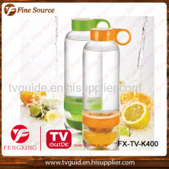 Citrus Zinger lemon water cup manual juicer water bottle Hot sale