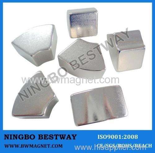 Arc Neodymium Magnet N35 R40*r20*8*22.5mm Ni coating