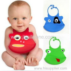 Colorful Silicone rubber baby bibs -H13-029
